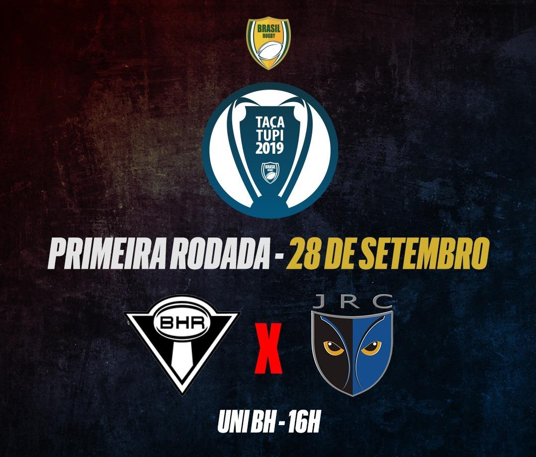 Taça Tupi 2019 tem inicio com duelo entre BH Rugby e Joaca