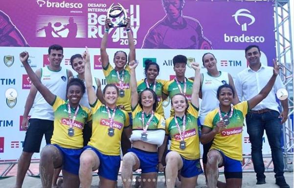 Brasil termina com o vice no masculino e feminino no Desafio Internacional de Beach Rugby