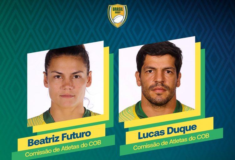 Beatriz Futuro e Lucas Duque são empossados na Comissão de Atletas do COB, que terá Yane Marques como presidente e Fabiano Peçanha, vice