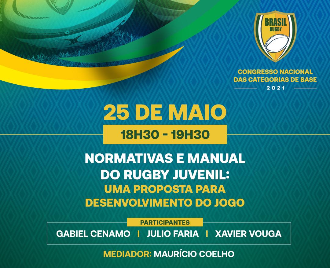 Congresso Nacional de Base: Baixe Manual e Normativas do Rugby Juvenil